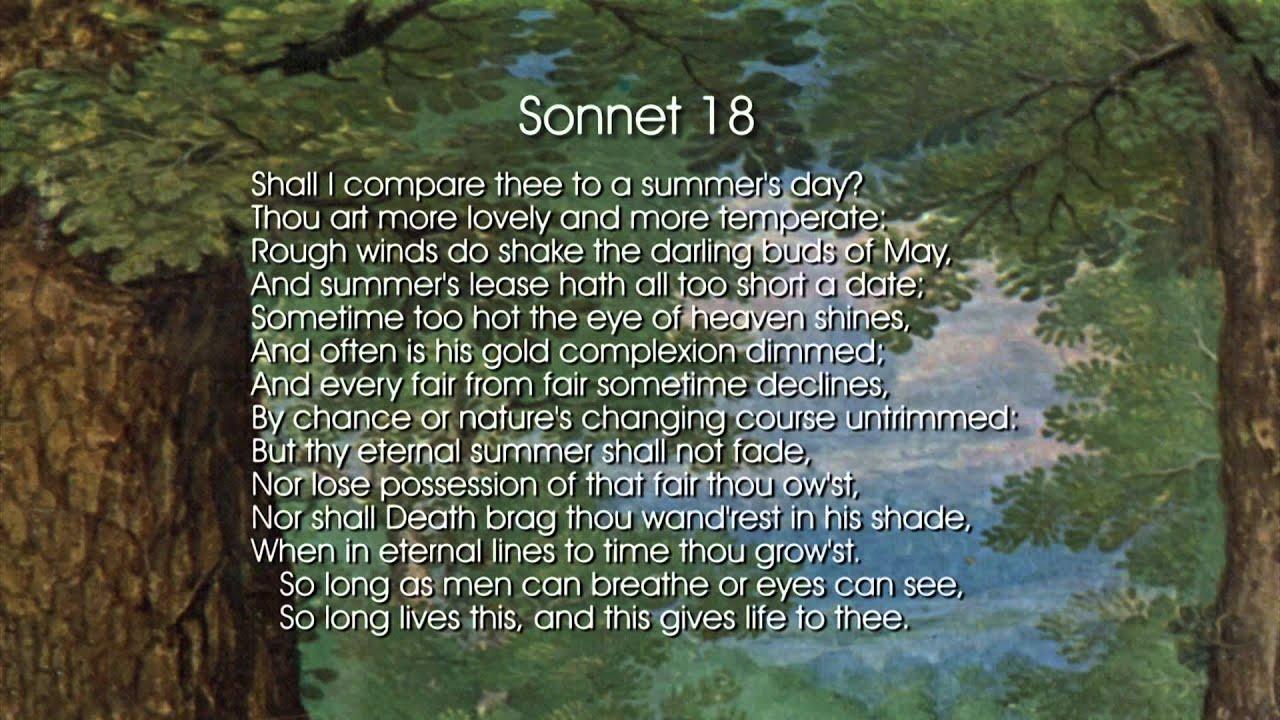 sonnet 18 - YouTube