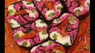 Make advanced (but easy!) raw vegan sushi & sweet ginger sauce recipe