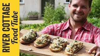 Barbecued Crab & Broad Bean Bruschetta | Tom Hunt - The Natural Cook