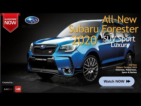 The 2020 New Subaru Forester, it's Concept SUV New Best