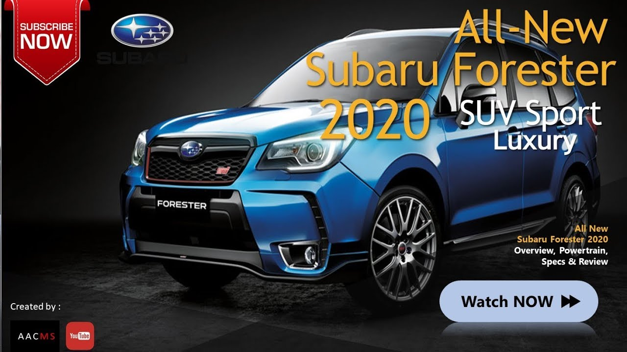 The 2020 New Subaru Forester It S Concept Suv New Best Youtube