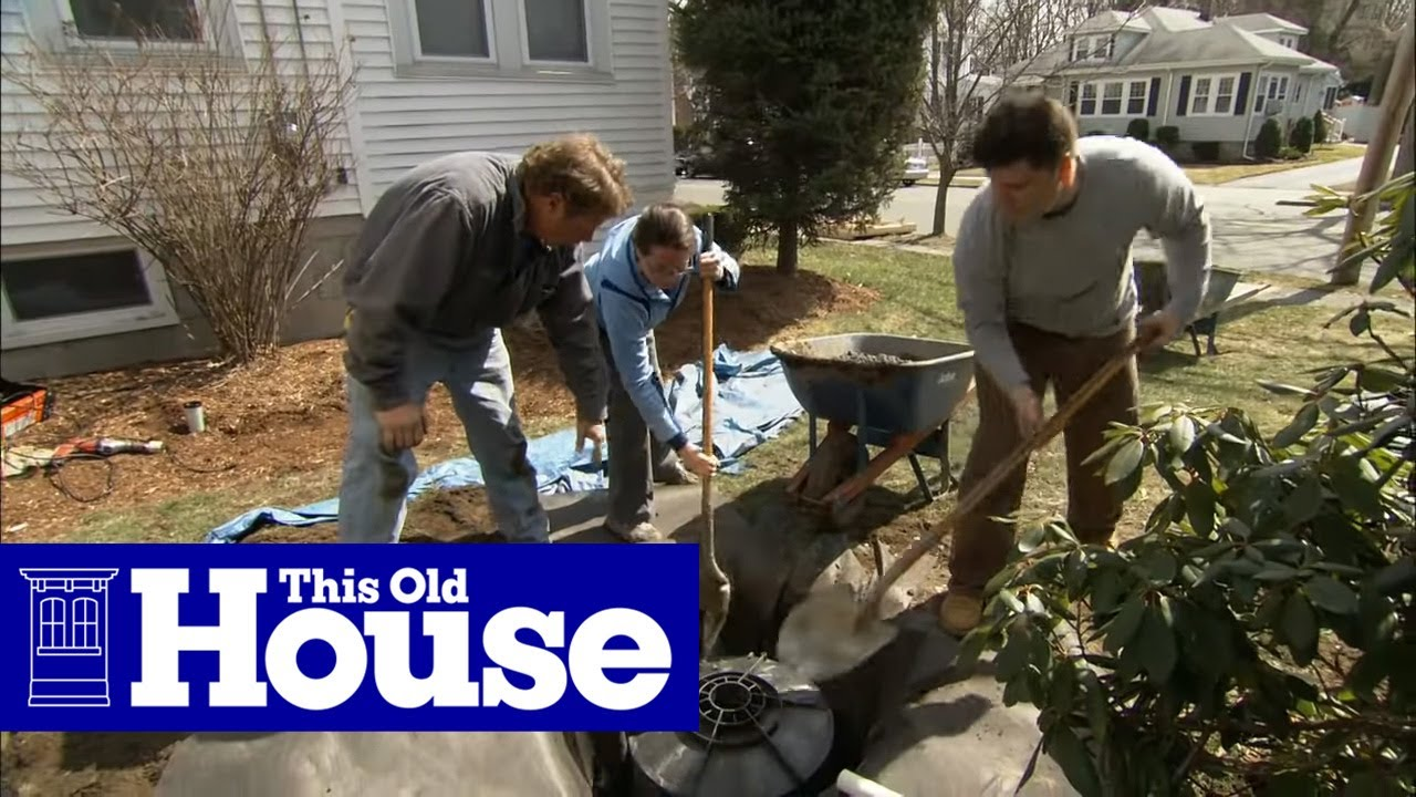 How To Install A Dry Well For A Sump Pump This Old House
