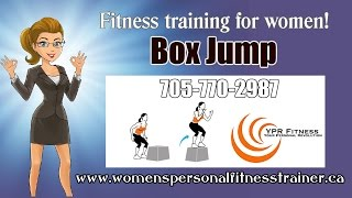 Circuit Training Program, Box Jumps At Ypr Fitness Barrie Ontario.