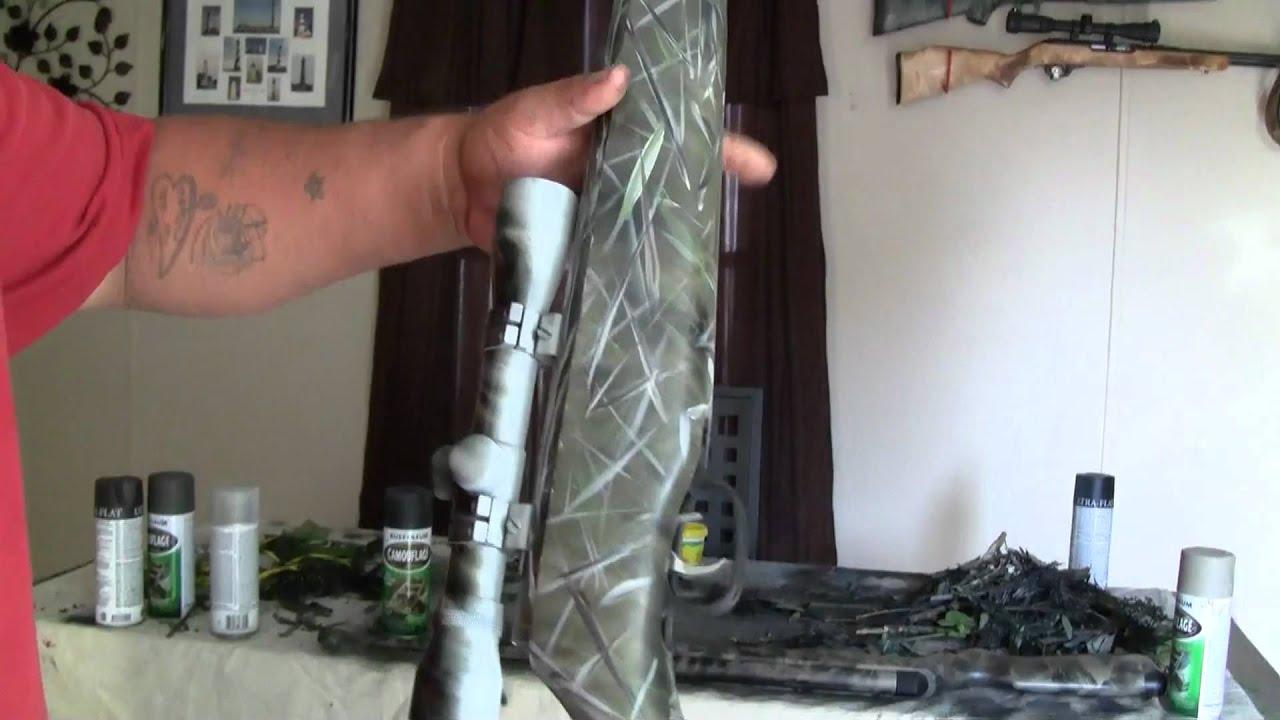 Como camuflar un rifle paso a paso parte 10  YouTube
