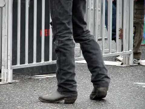 bootvideo 093 - Ace In Black Cowboy Boots and Jeans - YouTube
