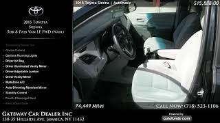 Used 2015 Toyota Sienna   Gateway Car Dealer Inc, Jamaica, NY