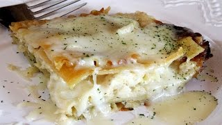 Lazy Man's Alfredo Chicken Lasagna