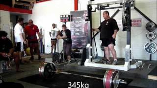 Andrey Malanichev at Muscle Pit, Perth, Australia. 1035kg @ 135.5kg