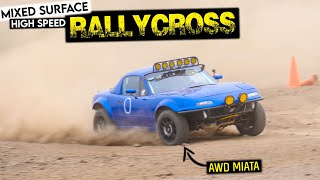 homepage tile video photo for HIGH SPEED, MIXED SURFACE Rallycross Event in the AWD MIATA!
