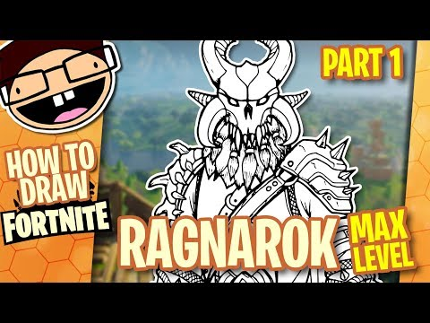 How to Draw MAX LEVEL RAGNAROK (Fortnite) Part 1 of 2 | Narrated Easy Step-by-Step Tutorial
