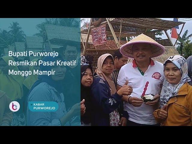 Bupati Purworejo Resmikan Pasar Kreatif Monggo Mampir