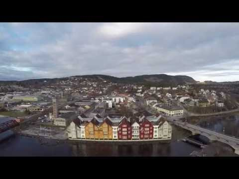 Aeriel Drone Video from Norway, Steinkjer