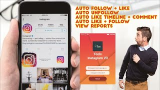 (HP )Software aplikasi (apk) Auto comment, auto like, auto DM instagram, Demo dan tutorial. screenshot 4