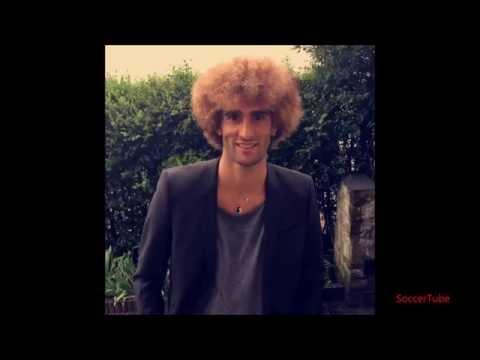 Marouane Fellaini blonde hair!