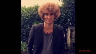 Marouane Fellaini blonde hair!