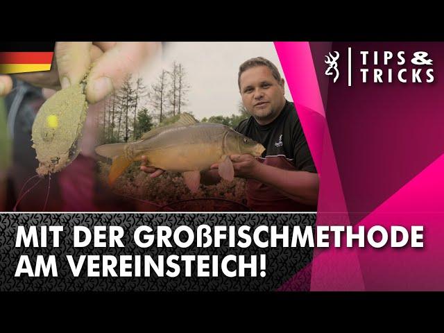 Mit der Großfischmethode am Vereinsteich!