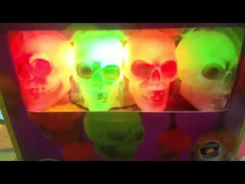 Gemmy Halloween Animated Musical Skull string Lights