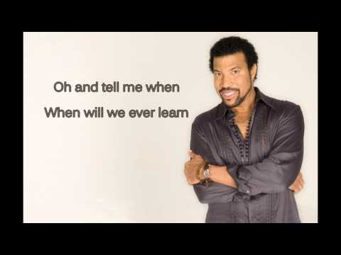 Lionel Richie - Love Will Conquer All (with lyrics on screen)