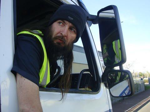 """Reversing lorries. """"back her in drive"""""""