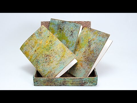 Mixed-media Faux Metal Cigar Box and Booklets with Barb Owen - HowToGetCreative.com