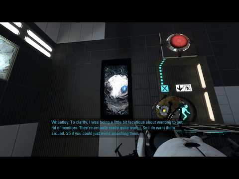 Portal 2 - breaking all Wheatley's monitors