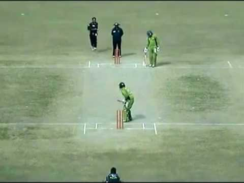 zain abbas hits the ball for 4 runs against faisalabad wolves in national one day cup