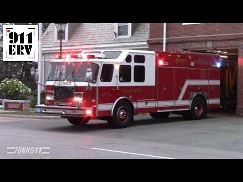 Quincy MA Fire, Rescue 1 Responding