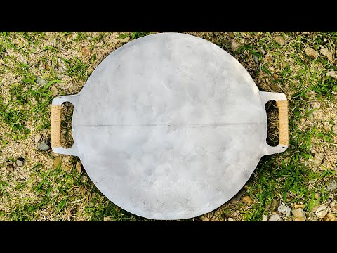 $9 Homemade Griddle for Camping - Cooking with Camp Wood Stove Griddle
