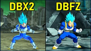 Vegeta - All Forms & Attacks   DBXV2 vs DBFZ [SJ-SSJ-SSGSS]