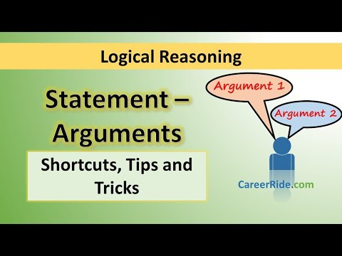 Statement and Arguments - Tricks & Shortcuts for Placement tests, Job Interviews & Exams