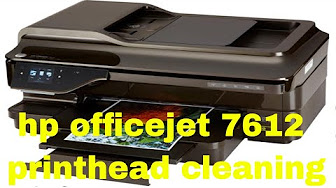 Hp Officejet 7612 Printhead Cleaning Youtube