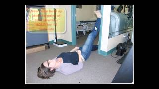 Contract Relax Hamstring Stretch in Doorway