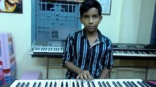 telugu song sirimalle puvva...padaharella vayasu  on keyboard by swaroop