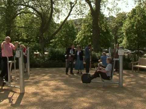"Pensioners ""at play"" in outdoor London gym"