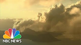 Ash Gushes From Philippines Volcano | NBC News (Live Stream Recording)