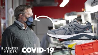 How A Shoe Company Makes 100,000 Masks A Week To Fight The Coronavirus