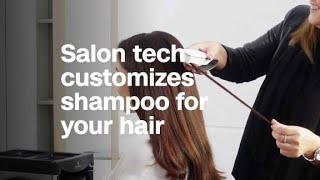 Salon tech will customize shampoo to your hair