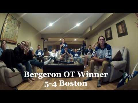Toronto Maple Leaf Fans React to Boston Bruins Game 7 Overtime Win