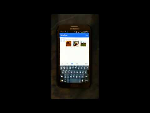 Uploading multiple photos to a single Facebook group post using Android devices