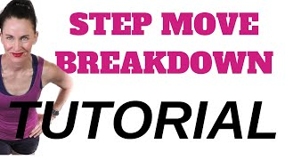 STEP AEROBICS MOVE BREAKDOWN TUTORIAL: GRAPEVINE STEP DOWN KNEE MOVE |  LEARN STEP AEROBICS MOVES