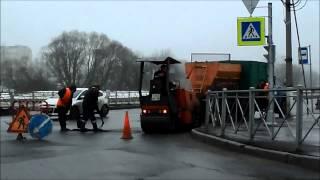 Ремонт на перекрестке Петербургского и Кузьминского ш.