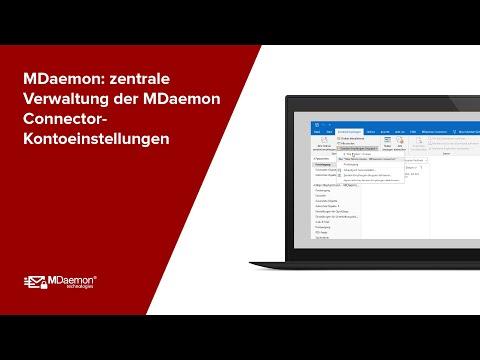 Die zentrale Verwaltung der MDaemon Connector-Kontoeinstellungen mit dem MDaemon Email Server