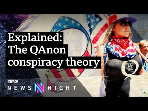 QAnon: The conspiracy theory spreading fake news - BBC Newsn