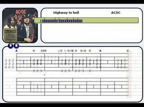 learn guitar with highway to hell youtube. Black Bedroom Furniture Sets. Home Design Ideas
