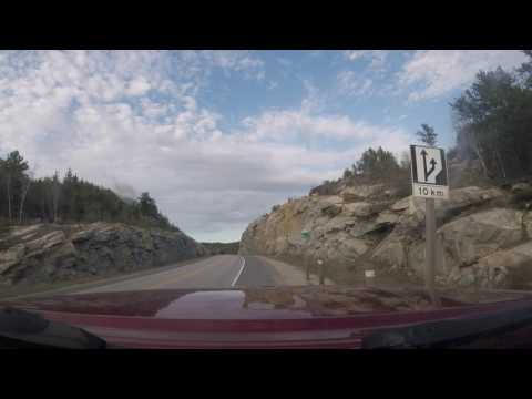 Almost a deadly accident on Trans Canada highway in Ontario