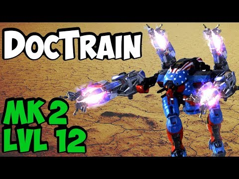 War Robots DocTrain Mk2 Level 12 Gameplay - Shocktrain x4 Doc - WR