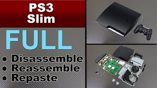 HOW TO CLEAN AND  REPASTE YOUR PS3 SLIM ( playstation 3 slim console )