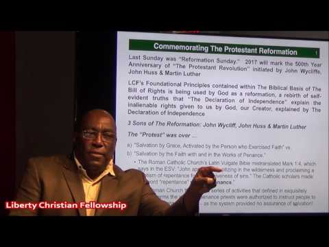 """Hebrews 1: 1-4 """"Reformation Reestablishes Our Relationship with Christ"""" with Pastor Earl Wallace"""