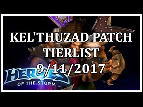 McIntyre - Kel'Thuzad Patch Tier List - 9/11/2017