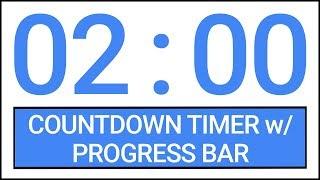 2 min Countdown Timer w/ Progress Bar #Timer #Countdown